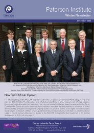 New PACCAR Lab Opened - The Paterson Institute for Cancer ...