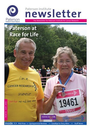 Paterson at Race for Life - The Paterson Institute for Cancer ...