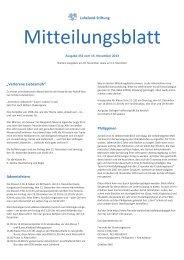Loheland Mitteilungsblatt (PDF) - Waldorf School Windhoek