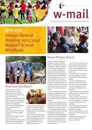 Annual General Meeting 2011/2012 Waldorf School Windhoek June ...