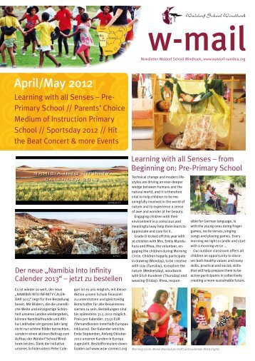 April/May 2012 - Waldorf School Windhoek