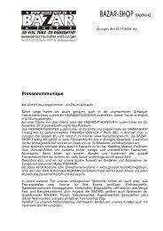 Pressecommunique - Bazar-Shop