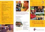 Lernen für das Leben, lebenslang Lernen - Waldorf School Windhoek