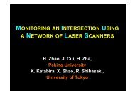 monitoring an intersection using a network of laser scanners