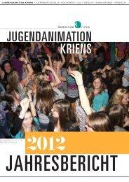 Jahresbericht 2012 - Jugendanimation Kriens