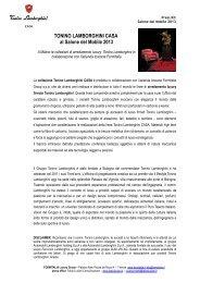 TONINO LAMBORGHINI CASA al Salone del Mobile 2013
