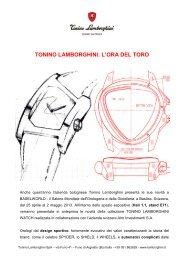 TONINO LAMBORGHINI: L'ORA DEL TORO