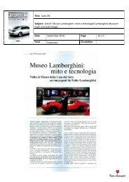 Title: Auto OK Subject: Article 'Museo Lamborghini: mito e tecnologia ...