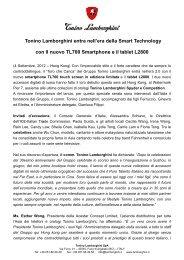 Tonino Lamborghini entra nell'era della Smart Technology con Il ...
