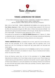 TONINO LAMBORGHINI FOR DESIGN