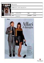 Title: CAPITAL Subject Article 'Sotto il segno del Toro' Date October ...
