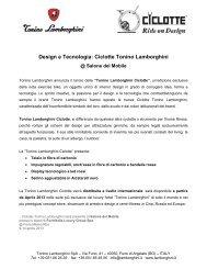 Design e Tecnologia: Ciclotte Tonino Lamborghini