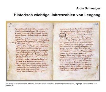 Jahreschronik der Gemeinde (348 KB) - .PDF - Gemeinde Leogang