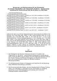 1 Benutzungs- und Gebührensatzung für den Kindergarten des ...