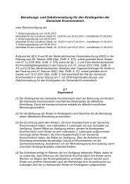 Benutzungs- und Gebührensatzung für den Kindergarten der ...