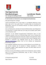 Samtgemeinde Nordkehdingen Landkreis Stade