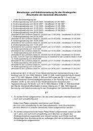 Benutzungs- und Gebührensatzung für den Kindergarten ...