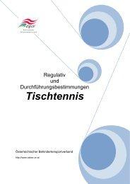 Tischtennis - Österreichischer Behindertensportverband