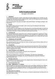 Informationsblatt der Musikschule für das Schuljahr 2013 ... - Staufen