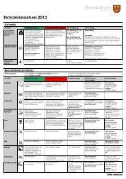 Entsorgungskalender 2013 - Staufen