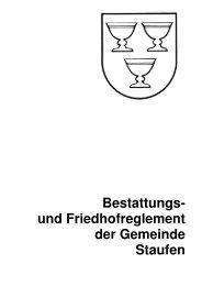 Bestattungs- und Friedhofreglement der Gemeinde Staufen