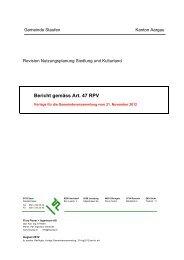 Bericht gemäss Art. 47 RPV - Staufen