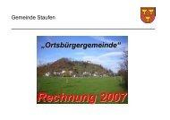 Erläuterungen zur Rechnung 2007 - Staufen