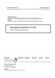 Planungsbericht gemäss Art. 47 RPV - Staufen