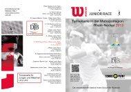 Turnierserie in der Metropolregion Rhein-Neckar 2013 - TC Biblis