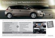 Das Business-Paket im Toyota Auris