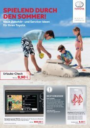 Toyota Urlaubsaktion 2013 E-Broschüre