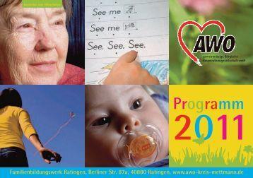 Programm 2011 - AWO Kreisverband Mettmann