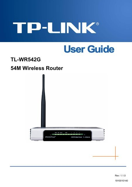 TL-WR542G 54M Wireless Router - TP-LINK
