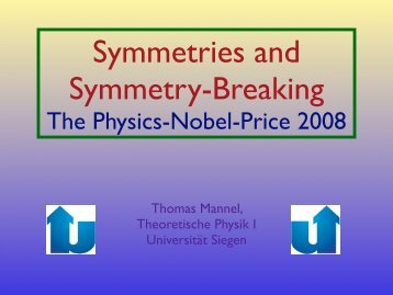 The Physics Nobel Price 2008 Physikalisches Kolloquium der