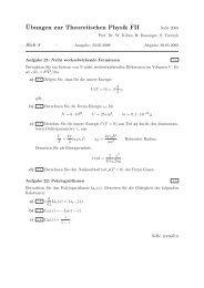 ¨Ubungen zur Theoretischen Physik FII - Theoretische Physik 1 ...