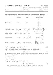 ¨Ubungen zur Theoretischen Physik III - Theoretische Physik 1 ...