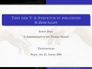 Test der V-A-Struktur in inklusiven B-Zerfällen - Theoretische Physik ...
