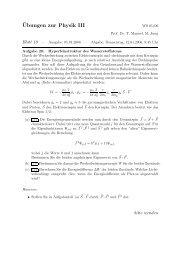 ¨Ubungen zur Physik III - Theoretische Physik 1 ...