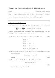 ¨Ubungen zur Theoretischen Physik II (Elektrodynamik)