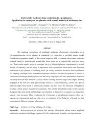 Electrostatic mode envelope excitations in epi plasmas – Application ...