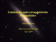 Galaktische und extragalaktische Magnetfelder - Ruhr-Universität ...