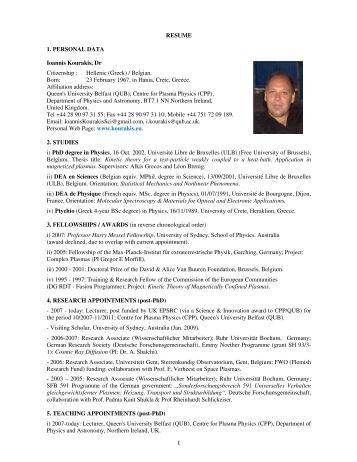 resume 1 personal data ioannis kourakis dr citizenship