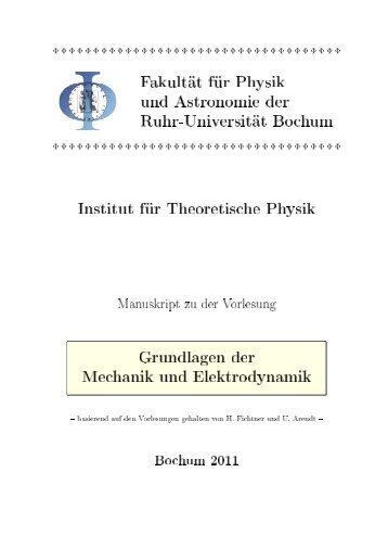 Grundlagen der Mechanik und Elektrodynamik 2011 - Theoretische ...