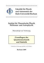 Grundlagen der Quantenmechanik und Statistik - Theoretische ...