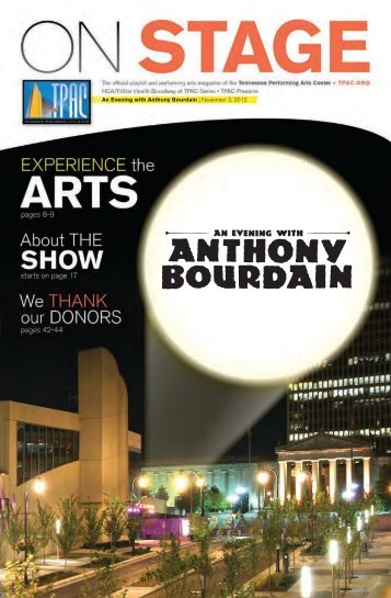 Anthony Bourdain - Tennessee Performing Arts Center