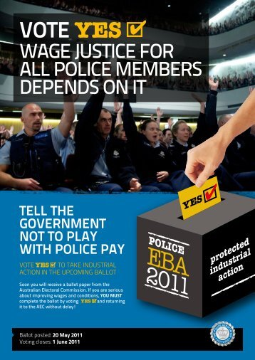 EBA ballot flyer - The Police Association Victoria