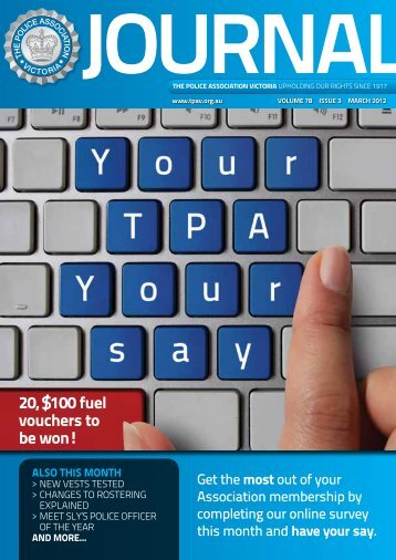 also this month - The Police Association Victoria