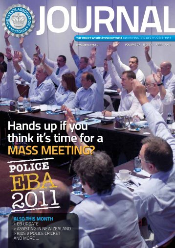 April edition - The Police Association Victoria