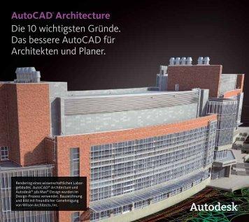 Autocad® Architecture Die 10 wichtigsten Gründe ... - CWSM Gmbh