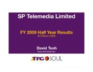 Half Year Results Presentation - TPG Internet